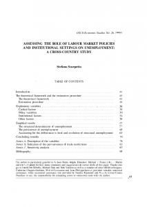 Assessing the role of labour market policies and ... - OECD.org