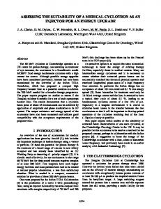 Assessing the Suitability of a Medical Cyclotron as an ... - CiteSeerX