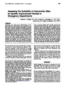 Assessing the Suitability of Intervention Sites for ... - Wiley Online Library
