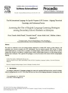 Assessing the Use of English Language Learning