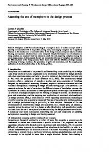 Assessing the use of metaphors in the design ... - Semantic Scholar