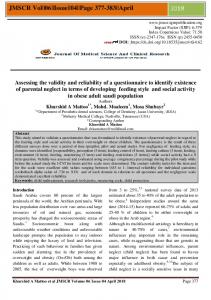 Assessing the validity and reliability of a ...