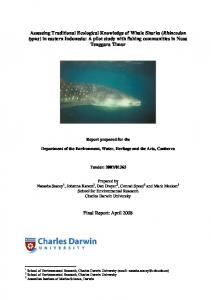 Assessing Traditional Ecological Knowledge of Whale Sharks ...