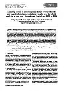 Assessing trends in extreme precipitation events ... - Wiley Online Library