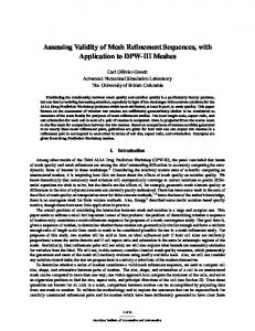 Assessing Validity of Mesh Refinement Sequences, with Application to