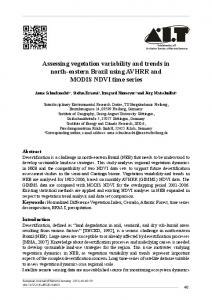 Assessing vegetation variability and trends in north-eastern ... - JuSER