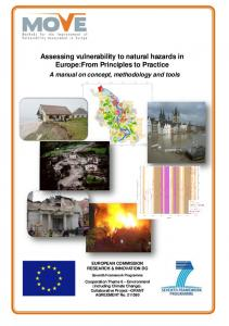 Assessing vulnerability to natural hazards in Europe:From Principles ...
