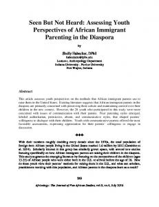 Assessing Youth Perspectives of African Immigrant Parenting in the ...