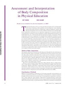Assessment and Interpretation of Body Composition ...