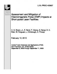 Assessment and Mitigation of Electromagnetic Pulse (EMP) Impacts at ...