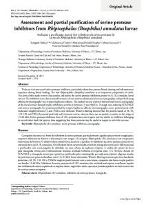 Assessment and partial purification of serine protease inhibitors from ...
