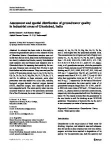 Assessment and spatial distribution of groundwater ...
