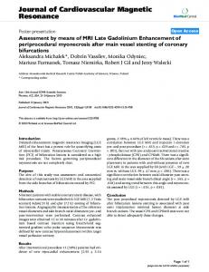Assessment by means of MRI Late Gadolinium Enhancement of ...