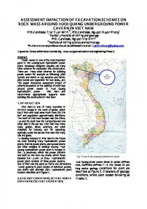 assessment impaction of excavation schemes on rock ...
