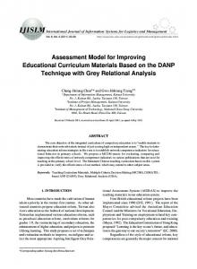 Assessment Model for Improving Educational