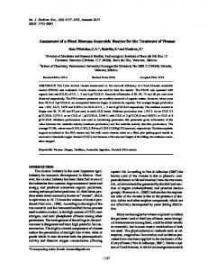 Assessment of a Fixed Biomass Anaerobic Reactor for the Treatment ...