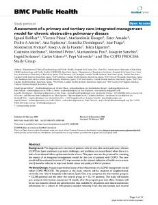 Assessment of a primary and tertiary care integrated management ...