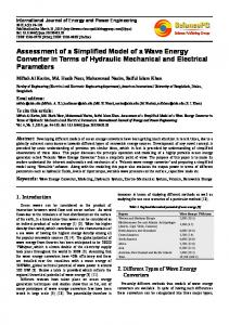 Assessment of a Simplified Model of a Wave Energy Converter in ...