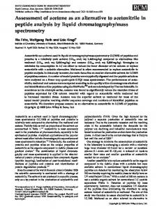 Assessment of acetone as an alternative to ... - Wiley Online Library