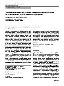 Assessment of association between BRAF-V600E ... - Springer Link