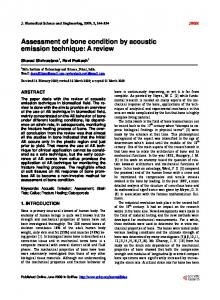 Assessment of bone condition by acoustic emission technique: A review