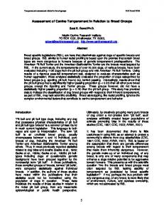 Assessment of Canine Temperament in Relation to Breed ... - Fair dog