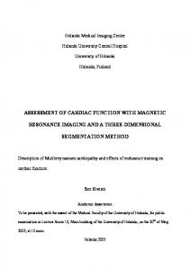 Assessment of cardiac function with magnetic
