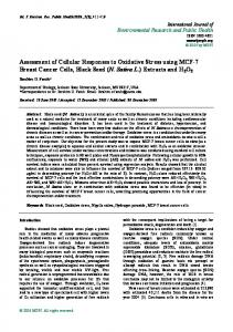 Assessment of Cellular Responses to Oxidative Stress using MCF-7 ...
