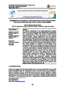 ASSESSMENT OF CHEMICAL CONTAMINANTS IN CORN DOUGH ...