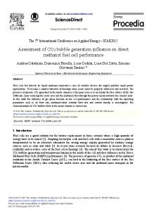 Assessment of CO2 Bubble Generation Influence on ... - ScienceDirect