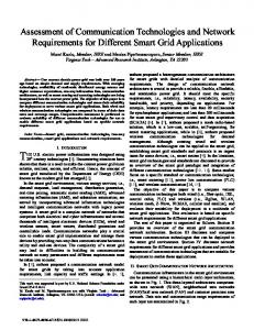 Assessment of Communication Technologies and ... - IEEE Xplore