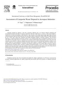 Assessment of Composite Waste Disposal in ... - ScienceDirect