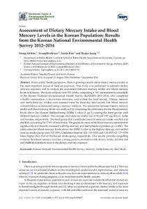 Assessment of Dietary Mercury Intake and Blood Mercury Levels in the