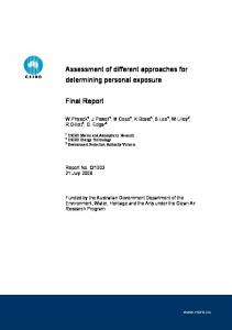 Assessment of different approaches for determining ...