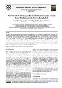 Assessment of drinking water related to arsenic and