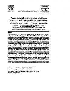 Assessment of electrokinetic removal of heavy metals from ... - CiteSeerX