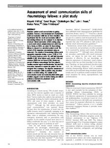 Assessment of email communication skills of ... - Oxford Academic