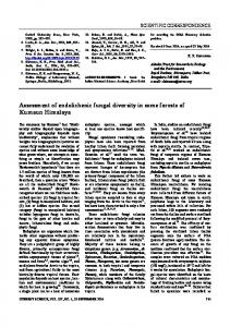 Assessment of endolichenic fungal diversity in some ... - Current Science