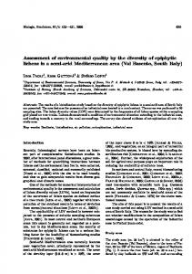 Assessment of environmental quality by the diversity ...