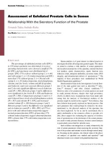 Assessment of Exfoliated Prostate Cells in Semen: Relationship With ...
