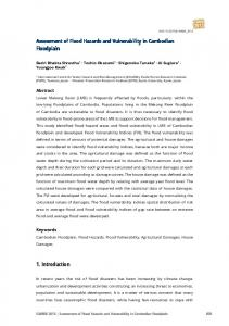 Assessment of Flood Hazards and Vulnerability in Cambodian ...