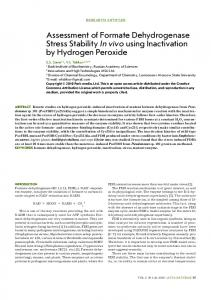 Assessment of Formate Dehydrogenase Stress Stability In ... - CiteSeerX