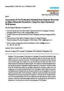 Assessment of Gas Production Potential from Hydrate Reservoir in ...