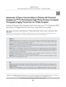 Assessment of Gastric Accommodation in Patients with Functional ...