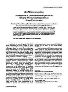 Assessment of general public exposure to LTE ... - Wiley Online Library