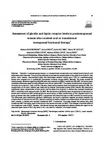 Assessment of ghrelin and leptin receptor levels in ... - Springer Link
