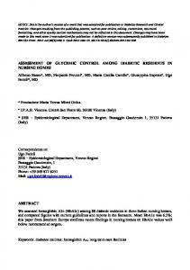ASSESSMENT OF GLYCEMIC CONTROL AMONG ... - Ipab di Vicenza