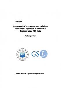 Assessment of greenhouse gas emissions from ...