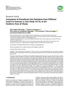 Assessment of Greenhouse Gas Emissions from Different Land-Use ...