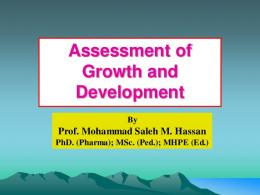 Assessment of Growth and Development